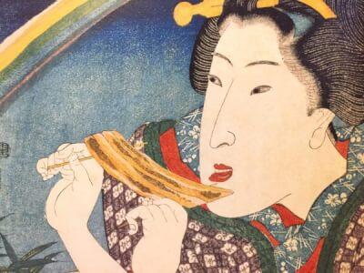 『うなぎの蒲焼』 和風・浮世絵風イラスト 描き方 Kenji Iwasaki 岩崎健児