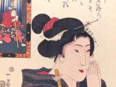 『簪』 和風・浮世絵風イラスト 描き方 Kenji Iwasaki 岩崎健児