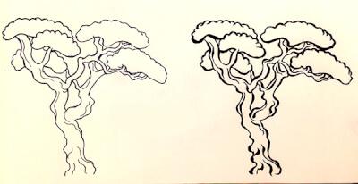 浮世絵風・和風イラスト 筆ペン 描き方