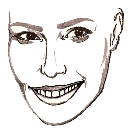ガル・ガドット 似顔絵 描き方