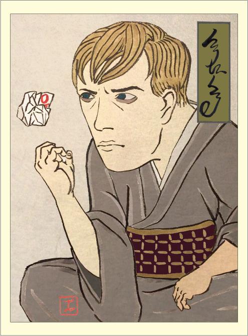 映画 クロニクル イラスト 浮世絵風 似顔絵 和風 かっこいい 日本風 イラストレーター 筆ペン 岩崎健児 Kenji iwasaki