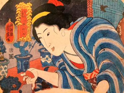 江戸時代 現代比較 『花売り』