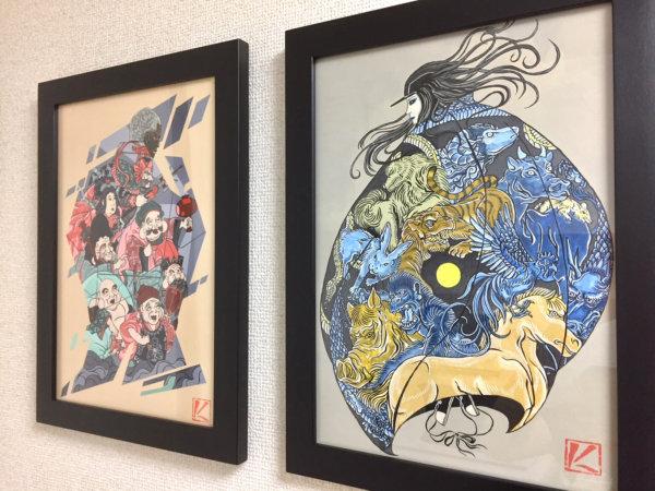 浮世絵 描き方 岩崎健児 Kenji iwasaki