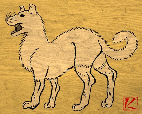 犬 和風・浮世絵風イラスト 描き方 Kenji Iwasaki 岩崎健児