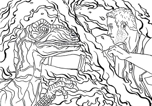 映画 ジュラシックワールド 炎の王国 ジュラシックパーク  浮世絵風 イラスト かっこいい 日本風 イラストレーター 筆ペン Kenji Iwasaki 岩崎健児