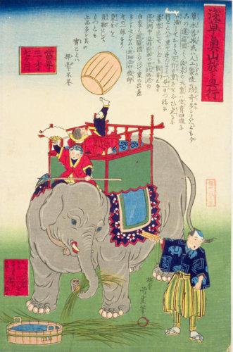 和風 浮世絵 イラスト 象 描き方 Kenji Iwasaki 岩崎健児