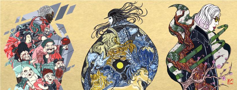 kenji iwasaki ukiyoe-style japanaeseartist ukiyoeartist tatooart ukiyoeart