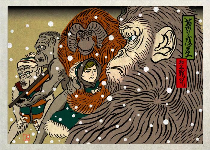 浮世絵 ukiyoe 描き方 イラスト 絵 画家 岩崎健児 Kenji Iwasaki 葛飾北斎 歌川広重 歌川国芳 歌川芳虎 海外 外国