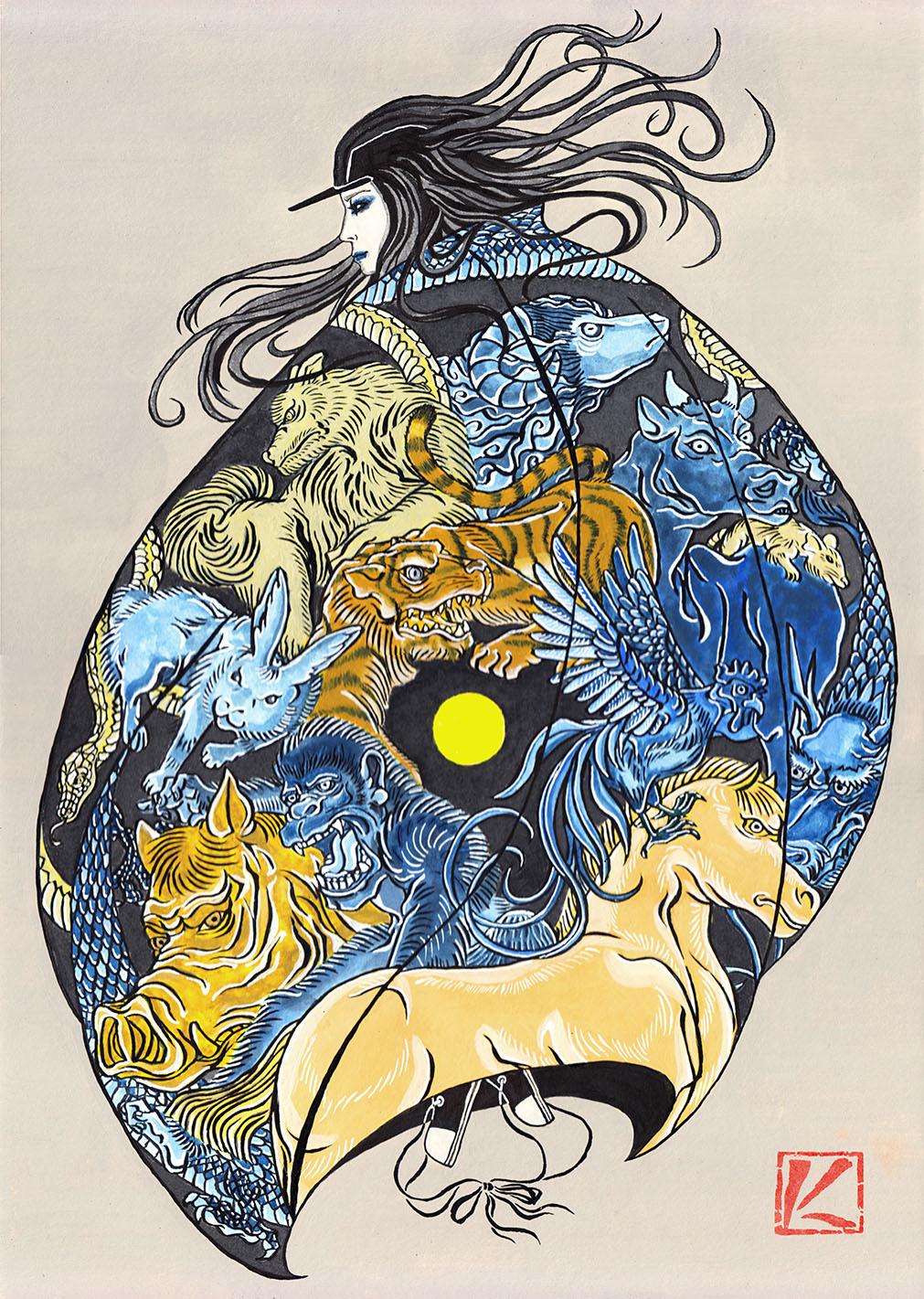 岩崎健児 Kenji Iwasaki ukiyoe artist japanese art ukiyoe ukiyoeart tatto uiyoe art japanese artist japanese traditional artist japanese traditional artist