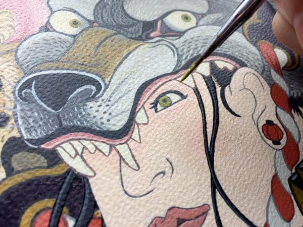 岩崎健児 kenji iwasaki ukiyoe-style japanaeseartist ukiyoeartist tatooart ukiyoeart