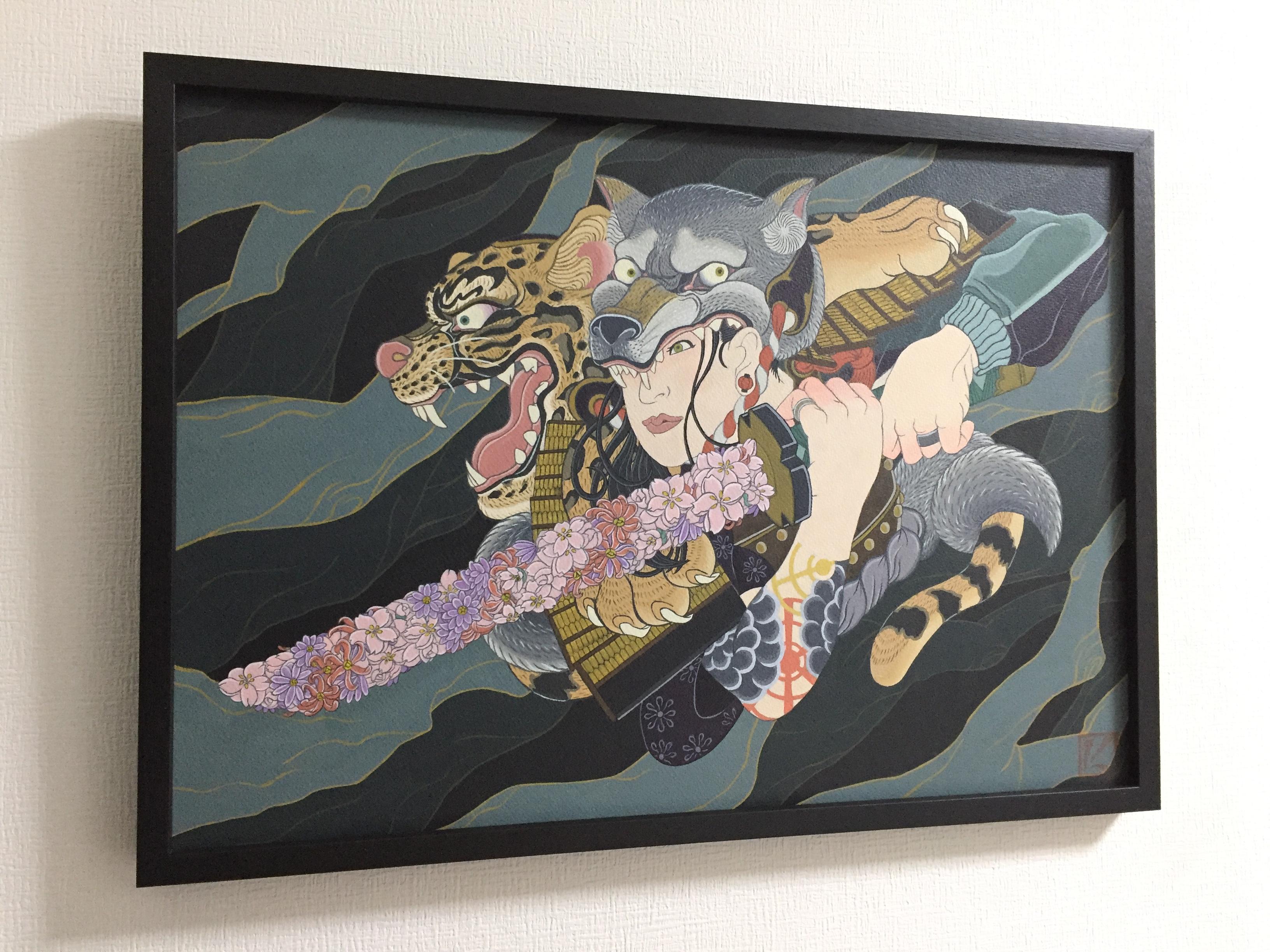 岩崎健児 Kenji Iwasaki 浮世絵 画家 イラストレーター 絵 和風 渋い 伝統 ポップ