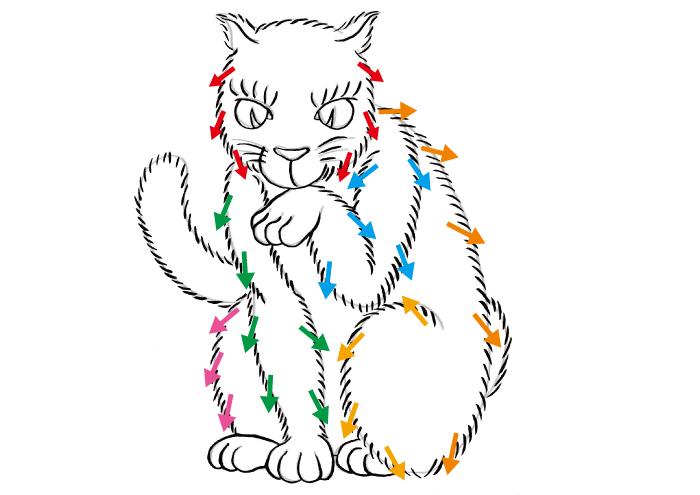 和風 浮世絵 浮世絵風 イラスト 猫 描き方 書き方 Kenji Iwasaki 岩崎健児 筆ペン かわいい 簡単 日本風 イラストレーター フリーランス コツ 画家 絵