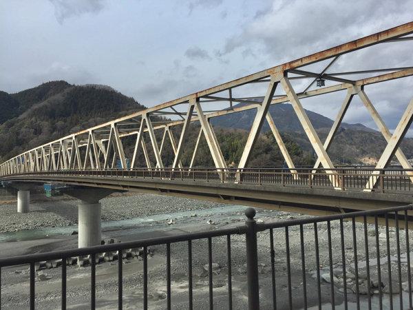 浮世絵 錦絵 葛飾北斎 富嶽三十六景 身延川裏富士 身延 しょうにん通り 身延橋 ゆるきゃん 旅行