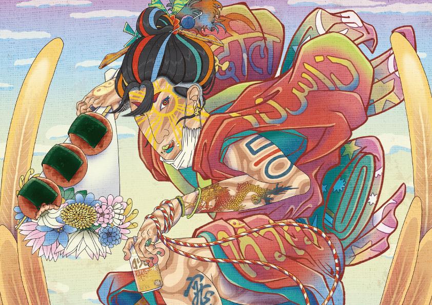 浮世絵 和風 イラスト イラストレーター アーティスト アート NFTアート 日本人アーティスト 日本人 NFTアーティスト opensea stopasianhate アジア人差別撤廃 kenji iwasaki 岩崎健児